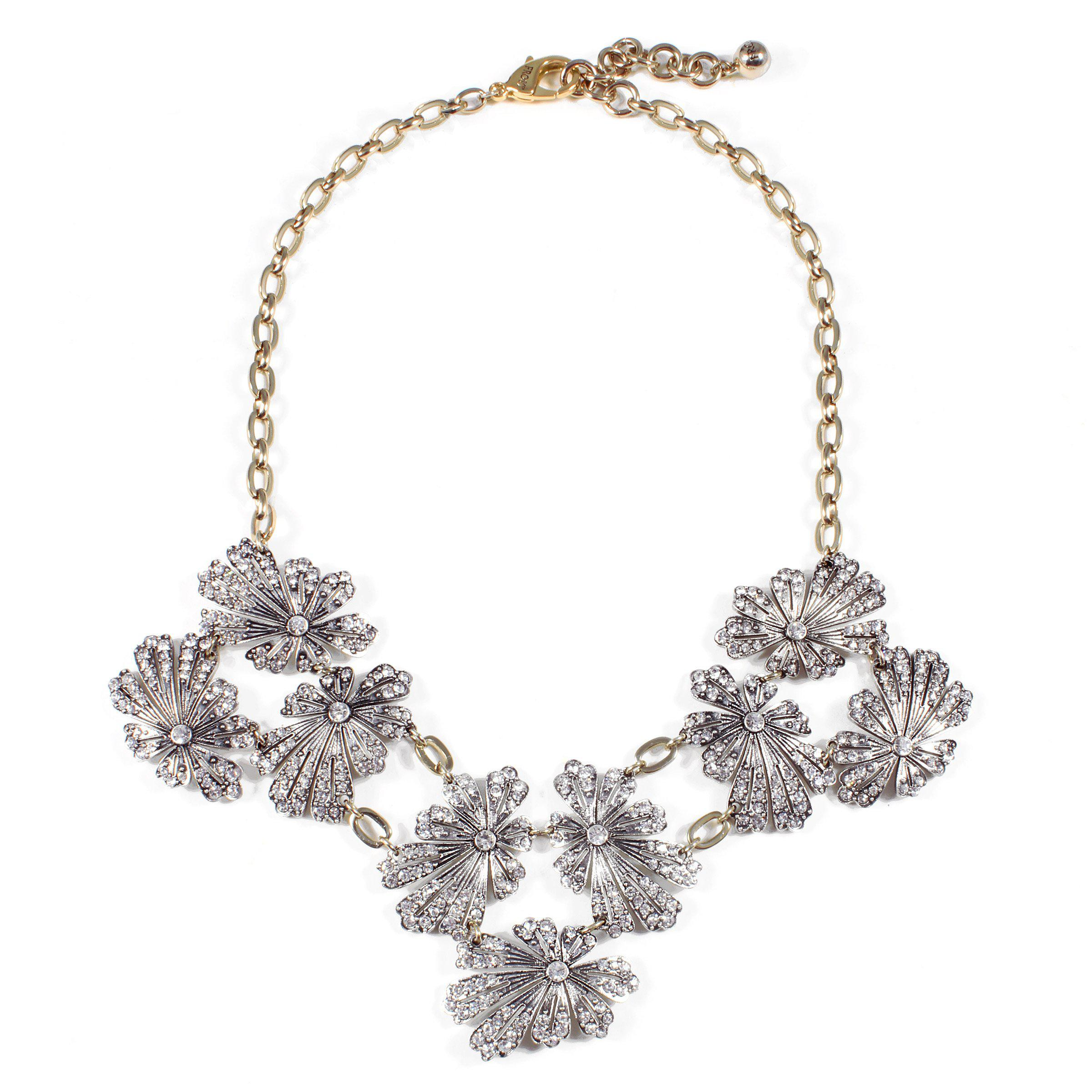 Lulu Frost Camellia Crystal Flower Necklace XsLF9Uz48