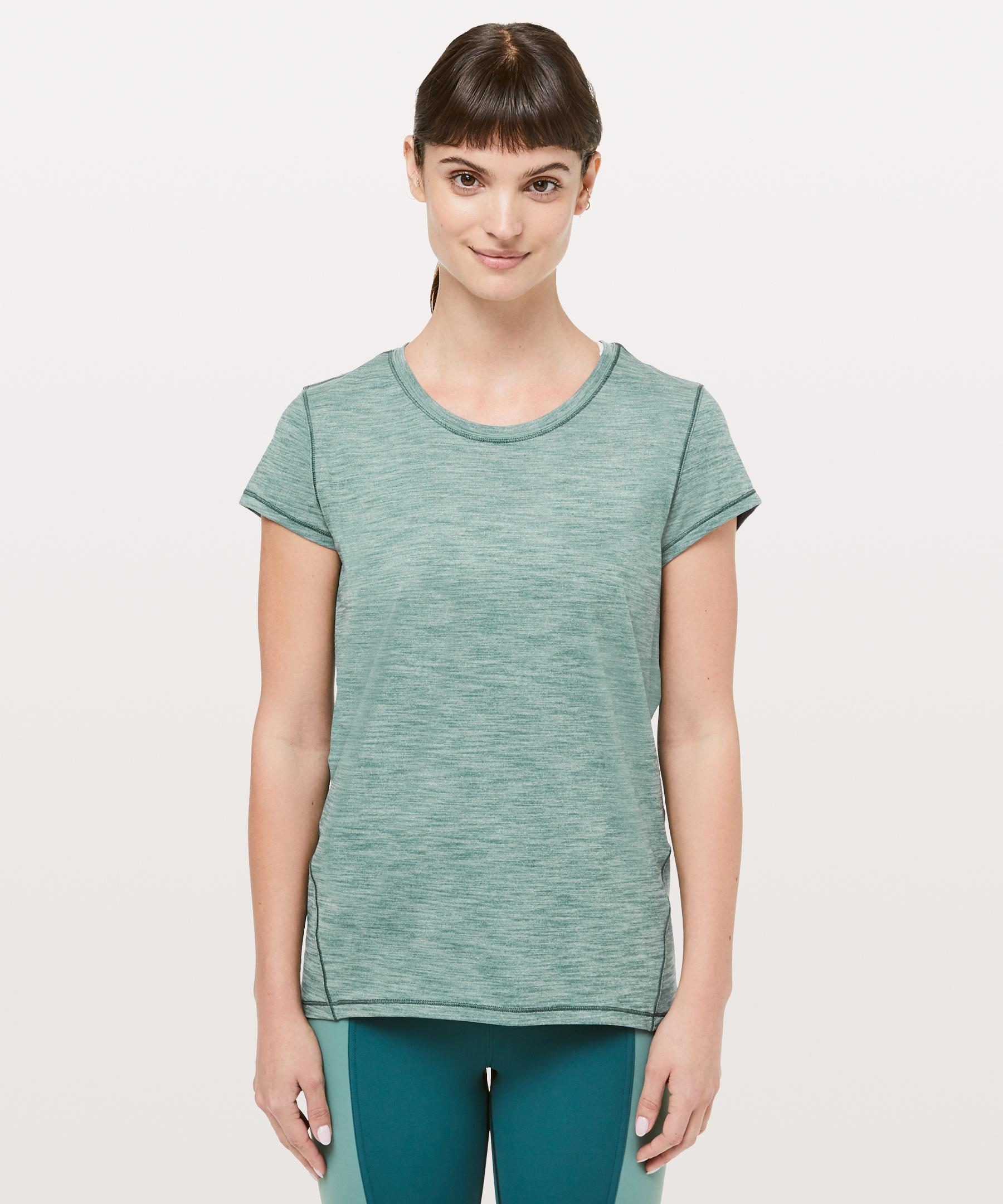 d04bf91405fe4 Lyst - lululemon athletica Another Mile Short Sleeve in Green - Save 28%