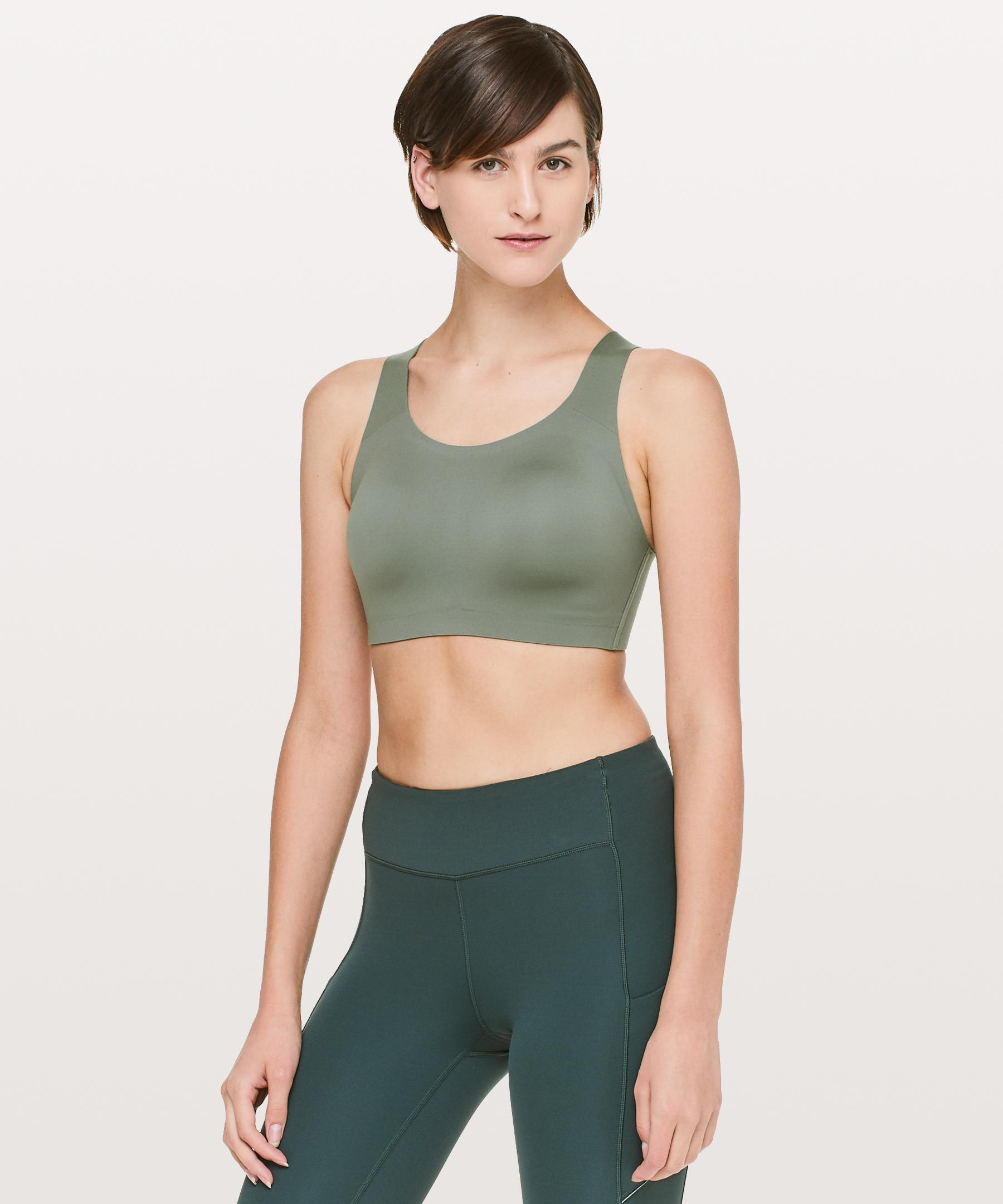 971c5f3ff0 Lyst - lululemon athletica Enlite Bra in Green - Save 60%