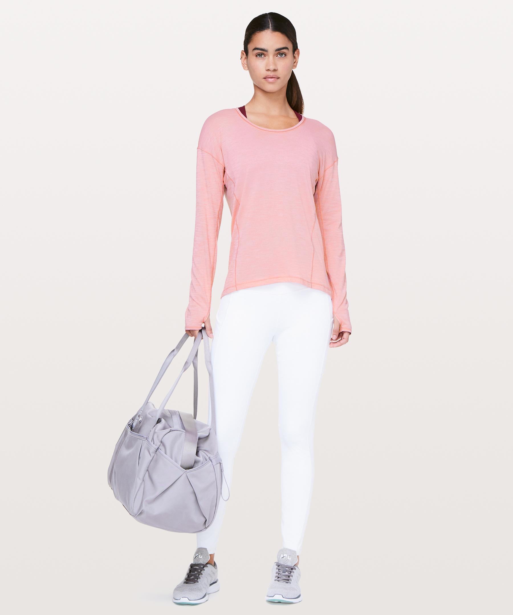 35ff12d325 lululemon athletica Sweat Embrace Long Sleeve in Pink - Lyst