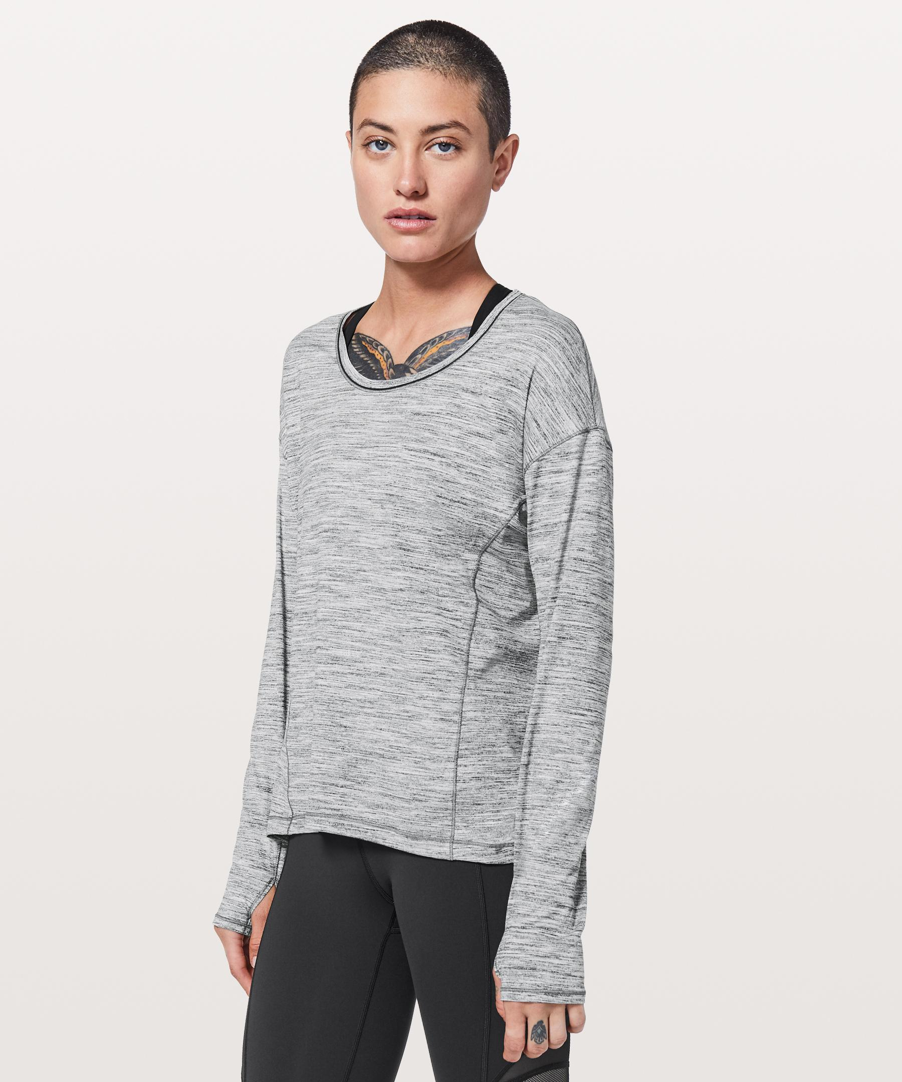 0680c8e207 lululemon athletica Sweat Embrace Long Sleeve in Gray - Save 42% - Lyst