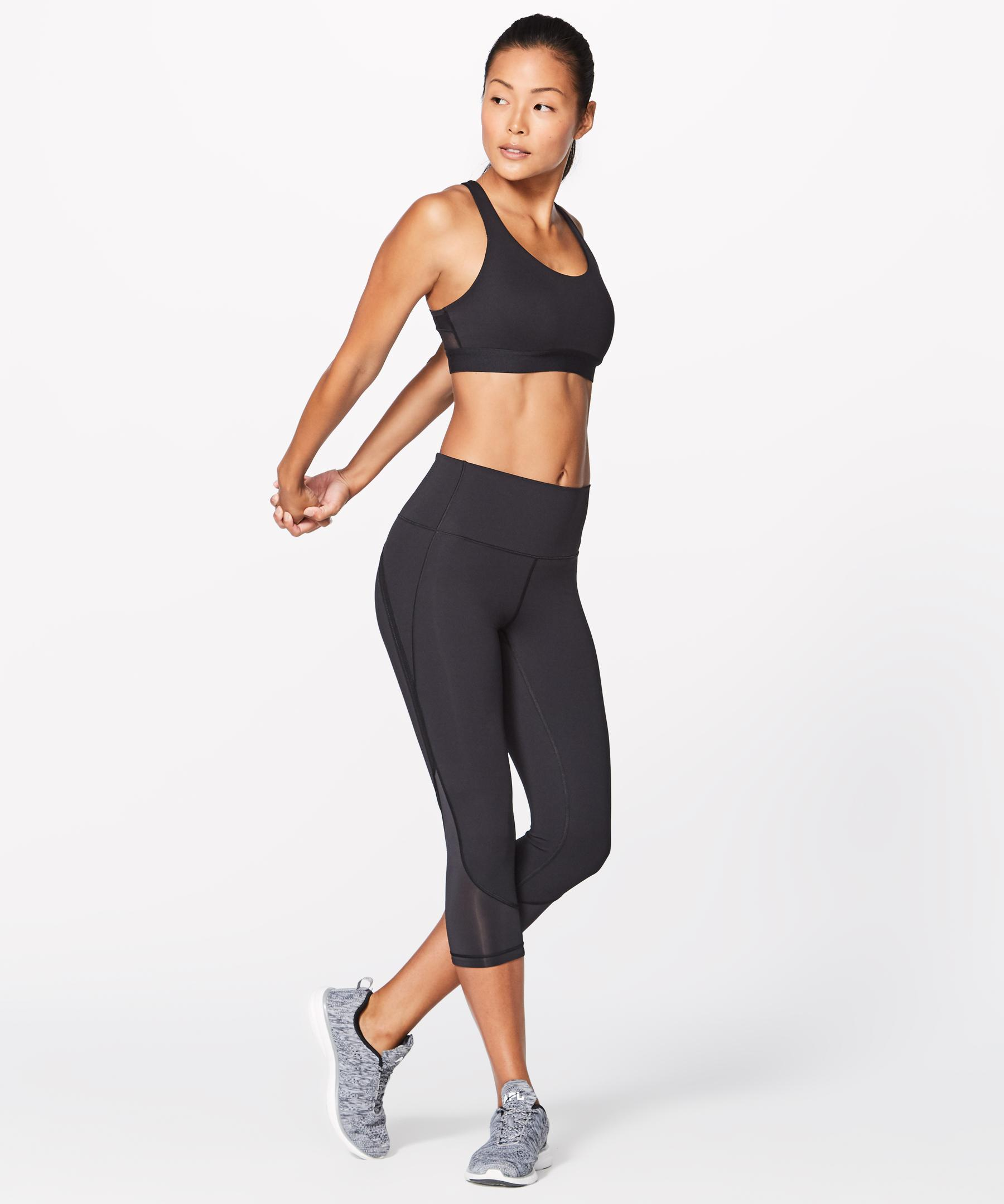 2769604ad0 lululemon athletica Fresh In Mesh Bra in Black - Lyst