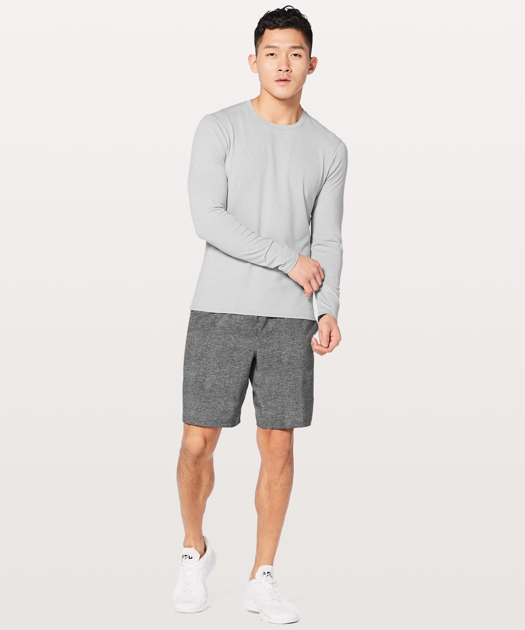 60564aa10c298a Lyst - lululemon athletica Drysense Mesh Long Sleeve in Gray for Men ...