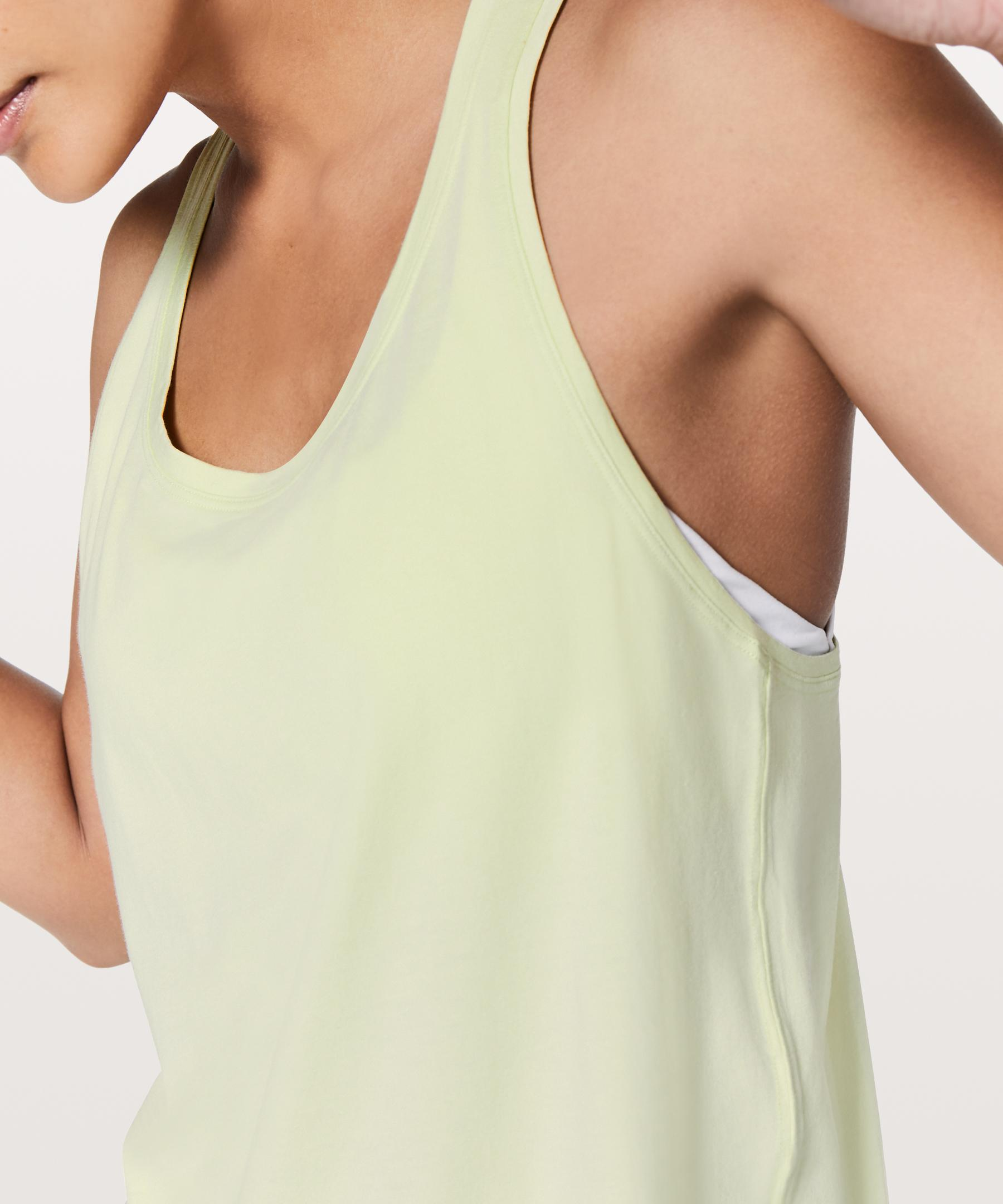 09d7ee9ab23e8 Lyst - Lululemon Athletica Love Tank  pleated in Green