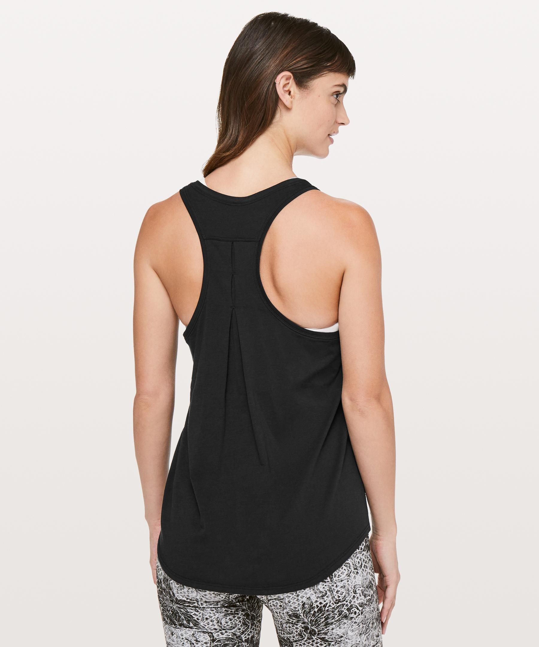 6e4c5768d767c Lyst - lululemon athletica Love Tank  pleated in Black