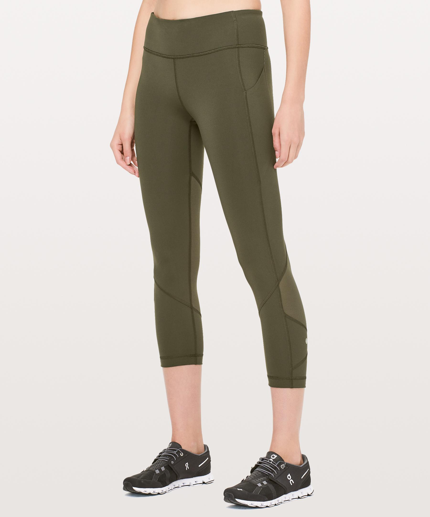 ca927b190 lululemon athletica Pace Rival Crop in Green - Lyst