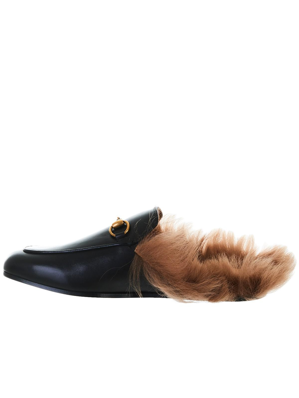 a17bf6035b2 Lyst - Gucci Leather Princetown Mules in Black - Save 26%