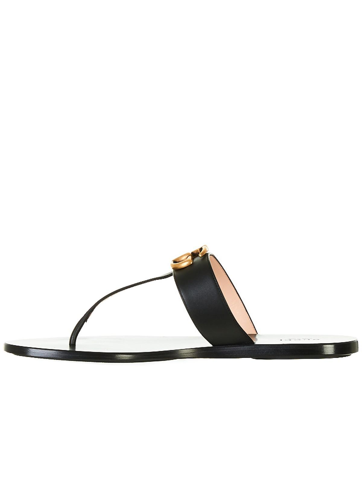 256ab60947e10d Lyst - Gucci Black Flip-flops in Black - Save 20%
