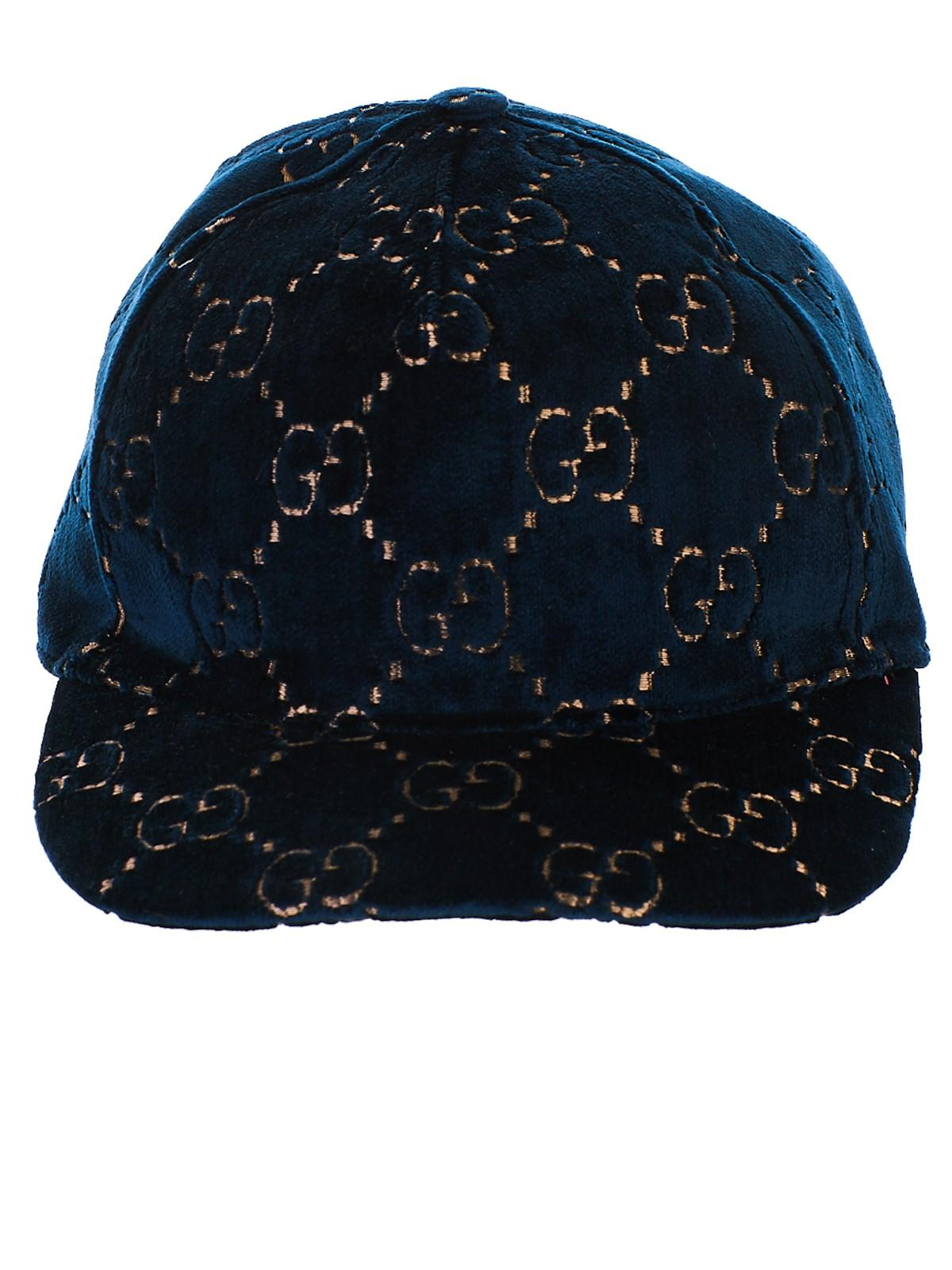 a7196f5d694 Lyst - Gucci Blue Hat in Blue