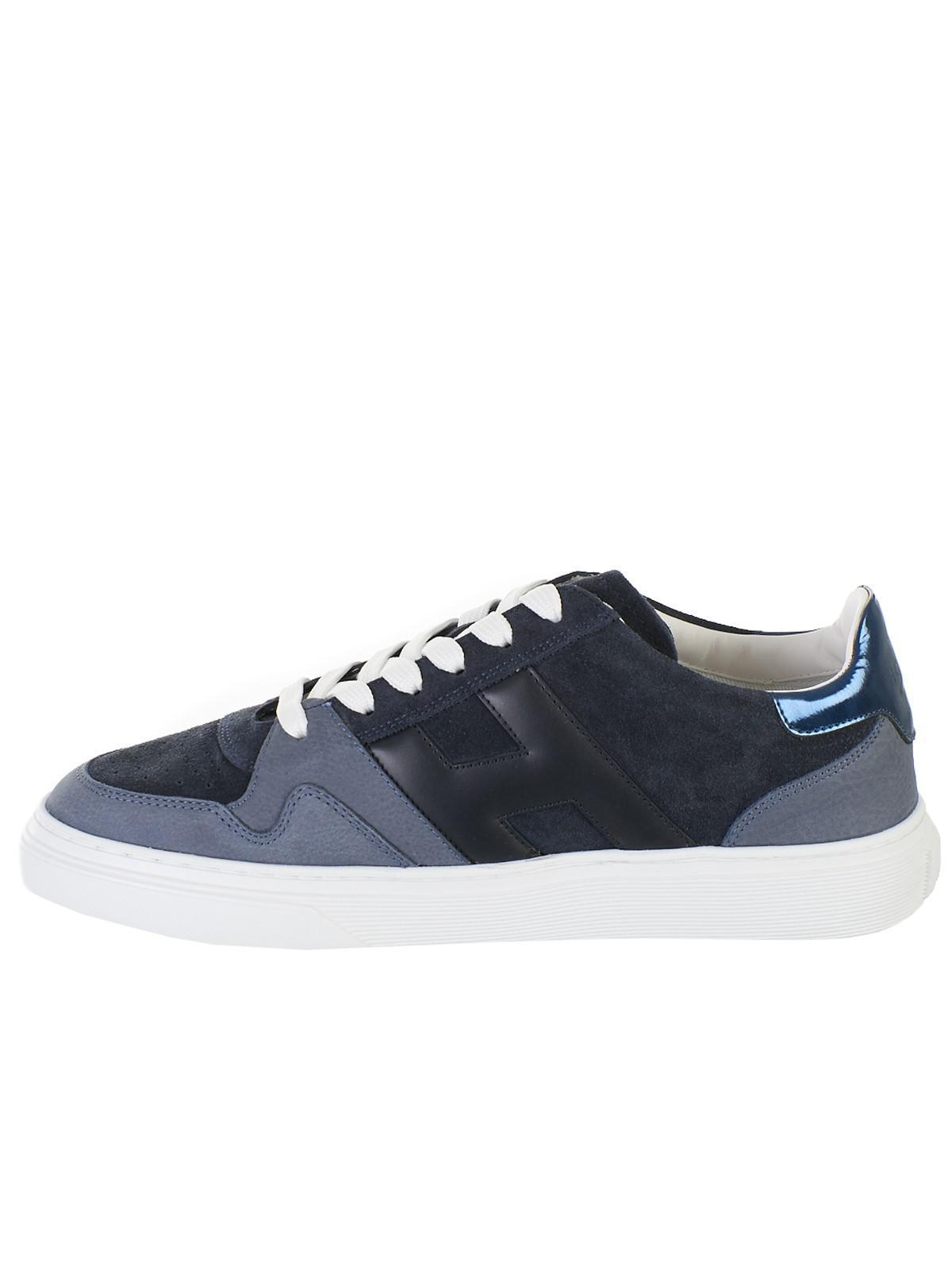 meilleur authentique 03240 8f55a Lyst - Hogan Blue Basket Sneakers in Blue for Men - Save 2%