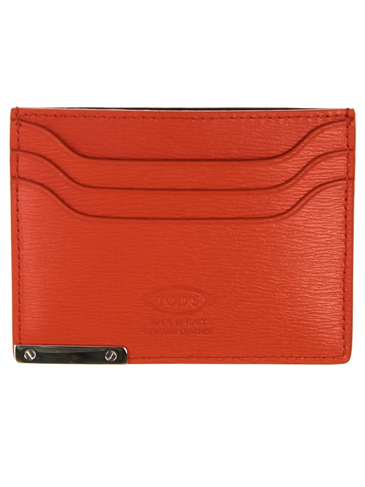 fcf28d86441 Tod's - Orange Card Holder for Men - Lyst. View fullscreen