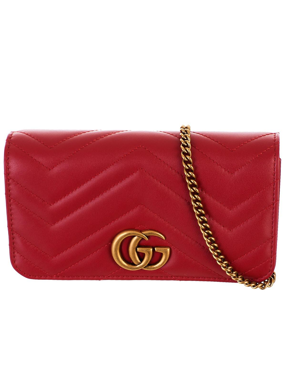 63f4557a3b6 Gucci Borsa Supermini GG Marmont Rossa in Red - Lyst