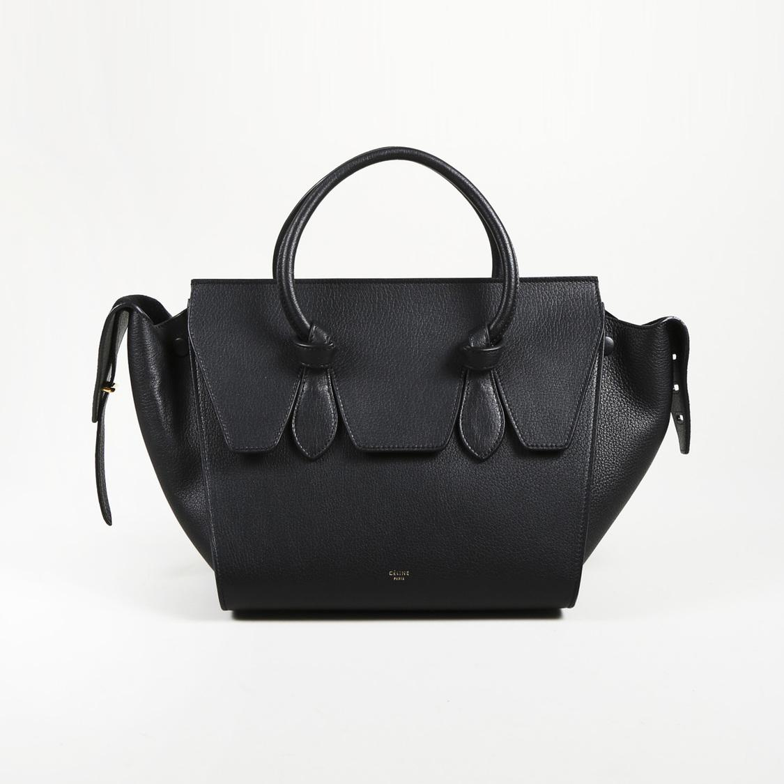 Céline Crisped Calfskin Black Tie Knot Tote Sz Mini In Save 5db7b521fae17