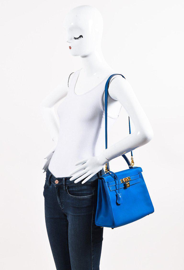 4eefe810a992 ... inexpensive lyst hermès 2016 blue hydra evercolor leather kelly  retourne e1fa4 5cbae