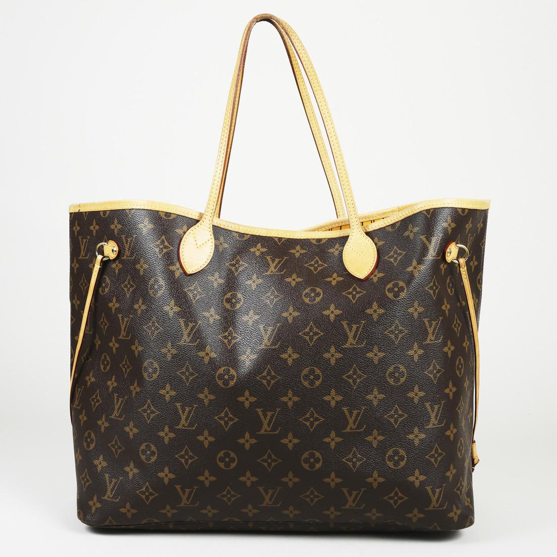 Louis Vuitton Neverfull Gm Monogram Tote Bag in Brown - Lyst