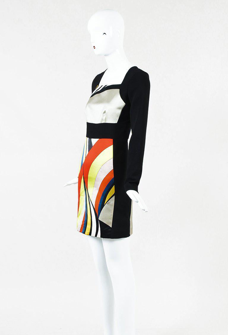 Black multicolor dress