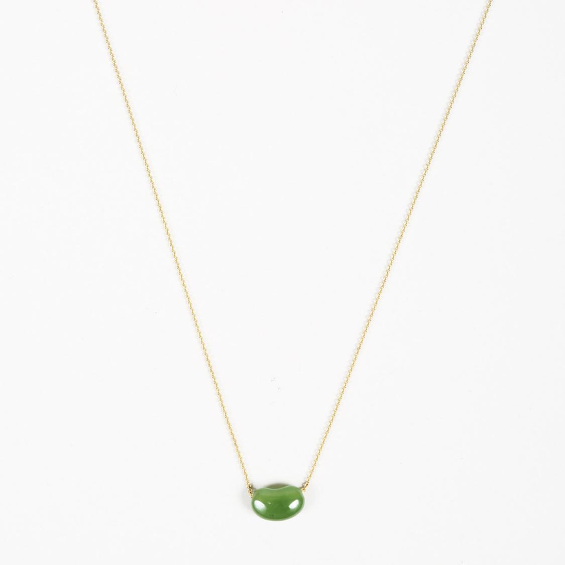 f61c82921 Tiffany & Co. Elsa Peretti 18k Yellow Gold Jade