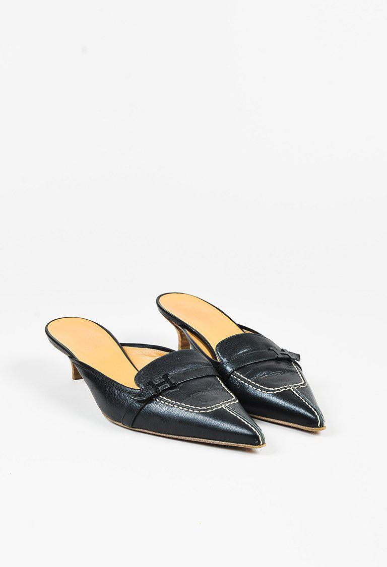 Manchester sale online Hermès Brogue Round-Toe Mules cheapest price for sale outlet order online discount the cheapest Gb4zKdn