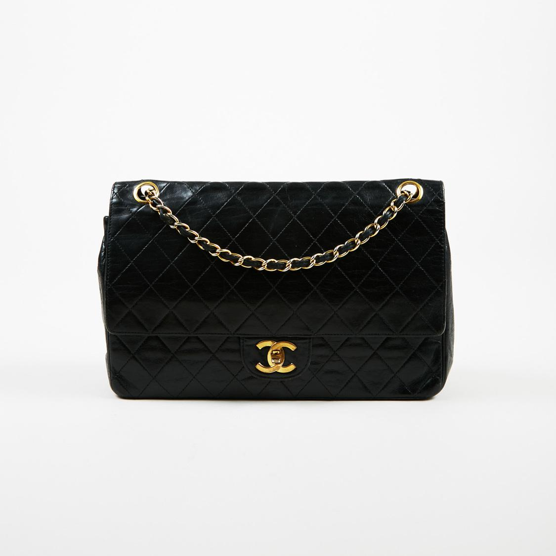 0132843d99f7 Lyst - Chanel Vintage Classic Double Flap Medium Quilted Lambskin ...