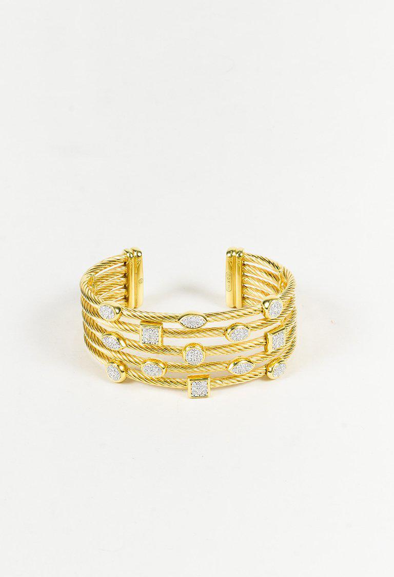 0fe716435 Gallery. Previously sold at: Luxury Garage Sale · Women's Gold Cuff  Bracelets Women's David Yurman ...