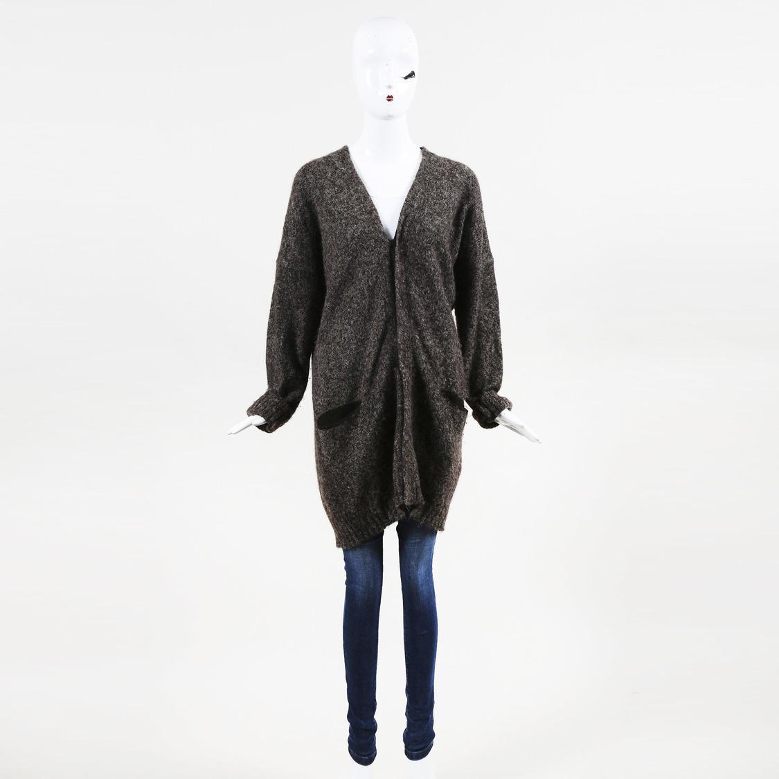 Lyst - Pas De Calais Draped Wool   Alpaca Blend Sweater in Brown c769d6cdb