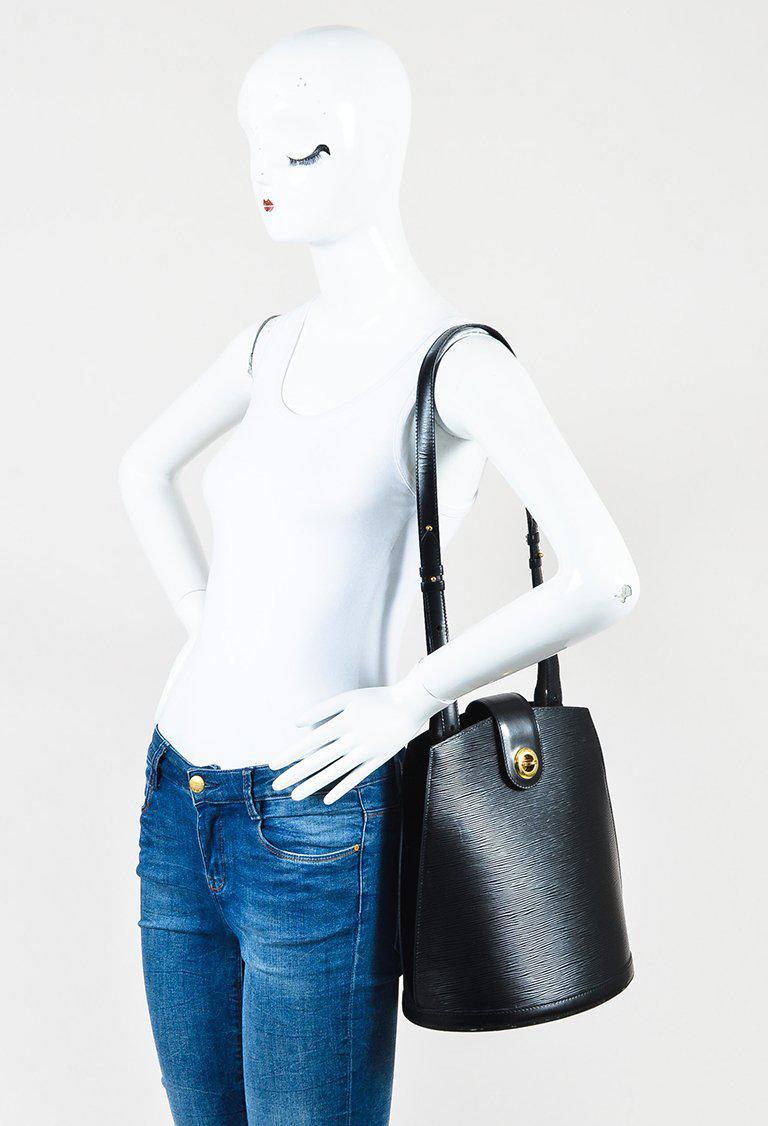 ff0152c41b87 Lyst - Louis Vuitton Vintage 1996 Black Epi Leather