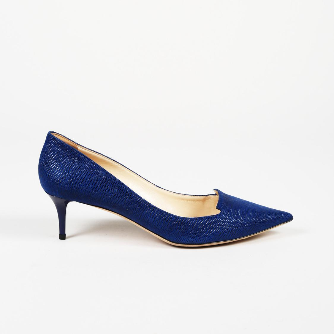 57437af4c00 Lyst - Jimmy Choo Allure Speckled Leather Pumps in Blue