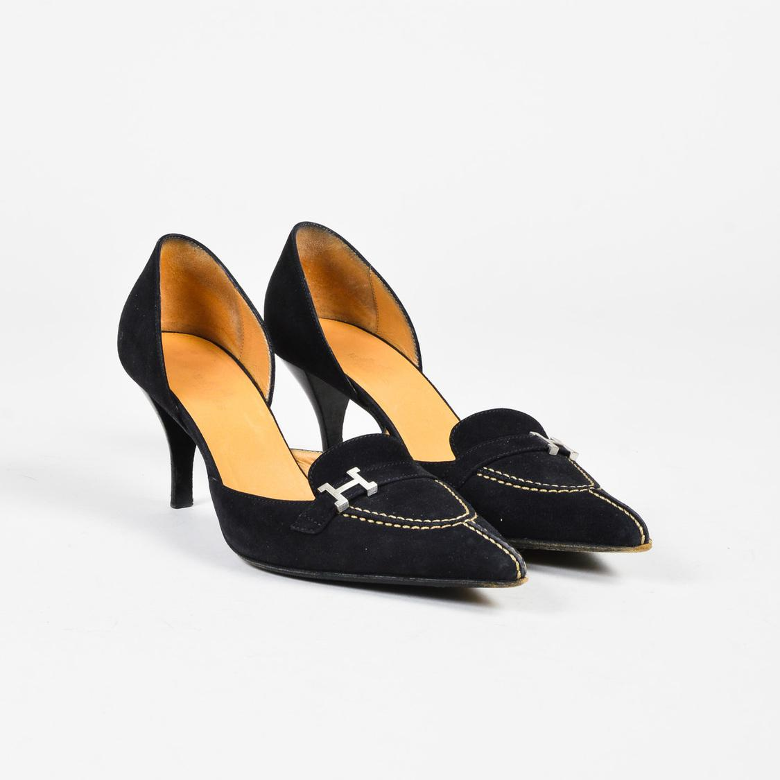 Hermès Suede Pointed-Toe Pumps sale get authentic clearance big discount new sale online outlet websites cheap sale really aggHvCA