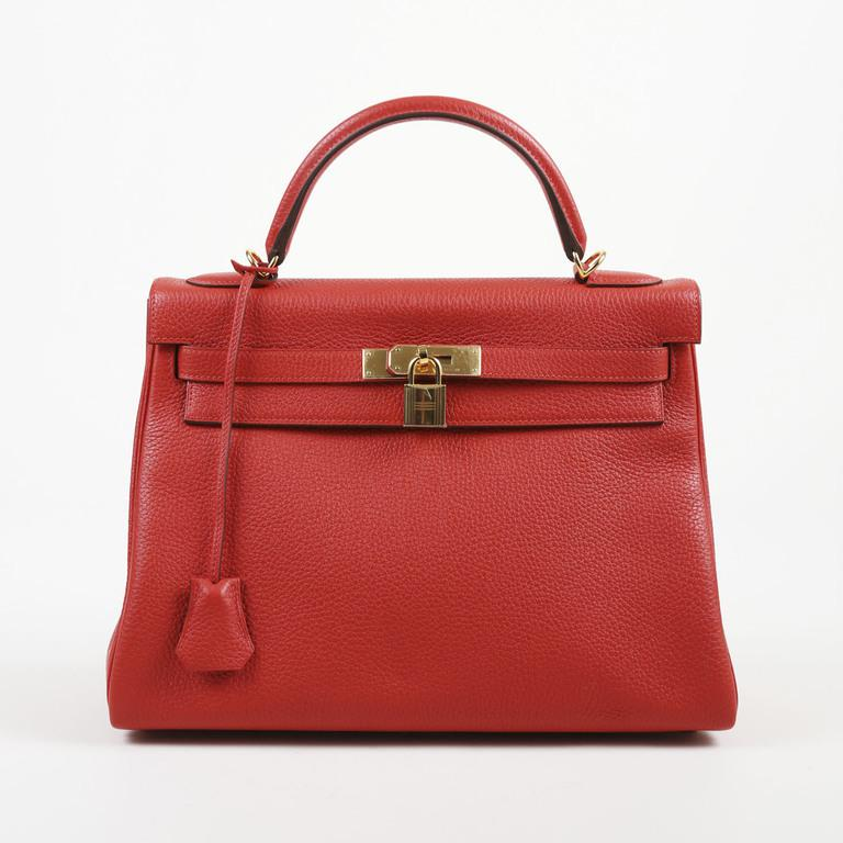 bdae3422186f Hermès - Rouge Tomate Red Taurillon Clemence Leather
