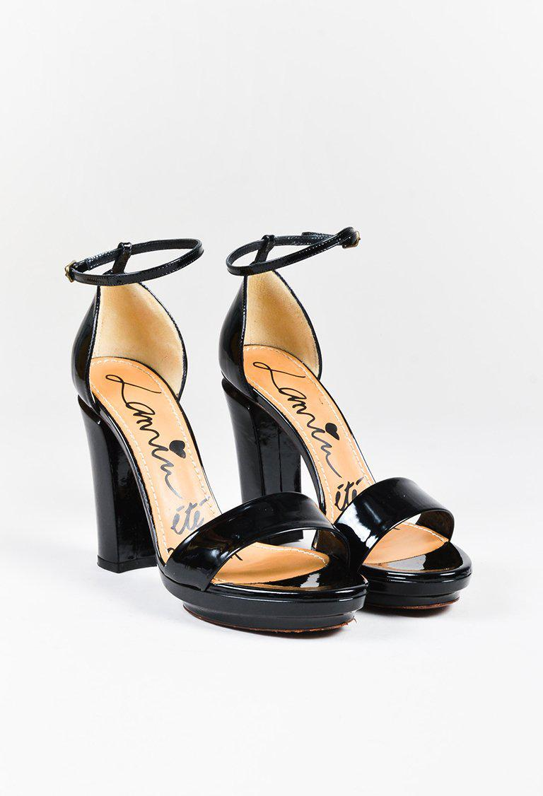 Lanvin Patent Leather Platform Sandals 2014 new order cheap price really for sale KHXxNvay