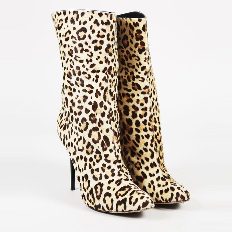 000749e5178 Lyst - Jimmy Choo Cream   Brown Leopard Print Calf Hair Boots in Brown