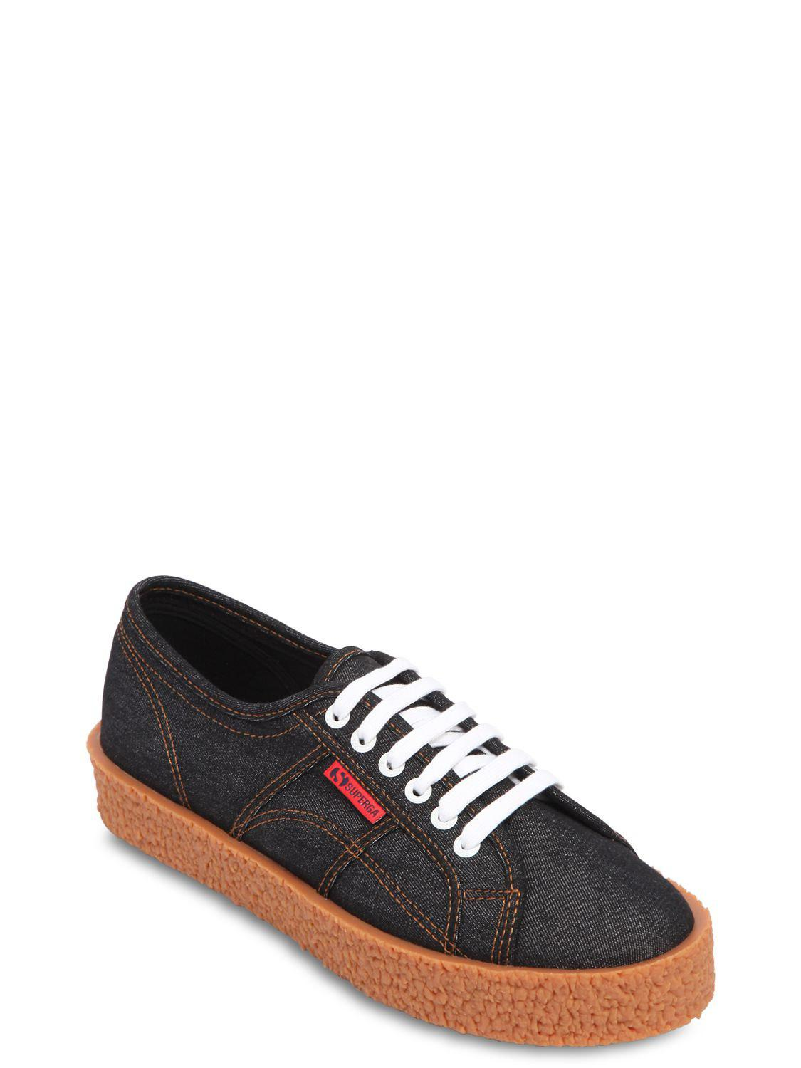 Superga 30MM MEGA PAURA DENIM SNEAKERS 8INc5w