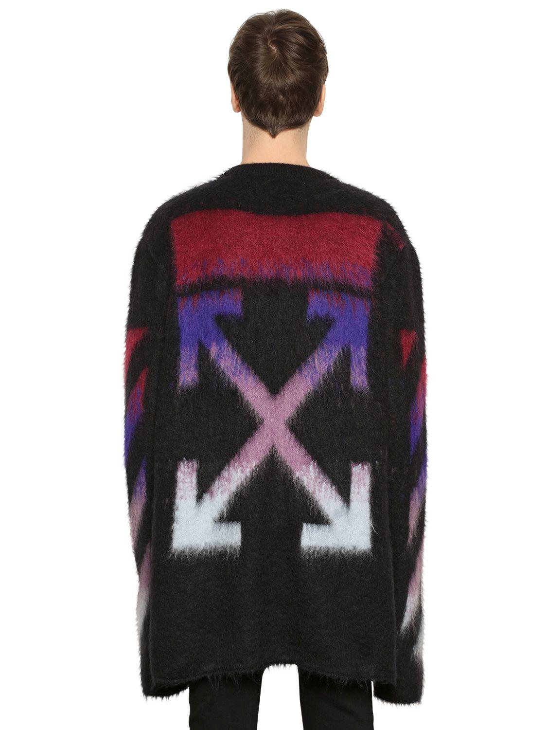 Off-white c/o virgil abloh Arrows Mohair & Cashmere Sweater in ...