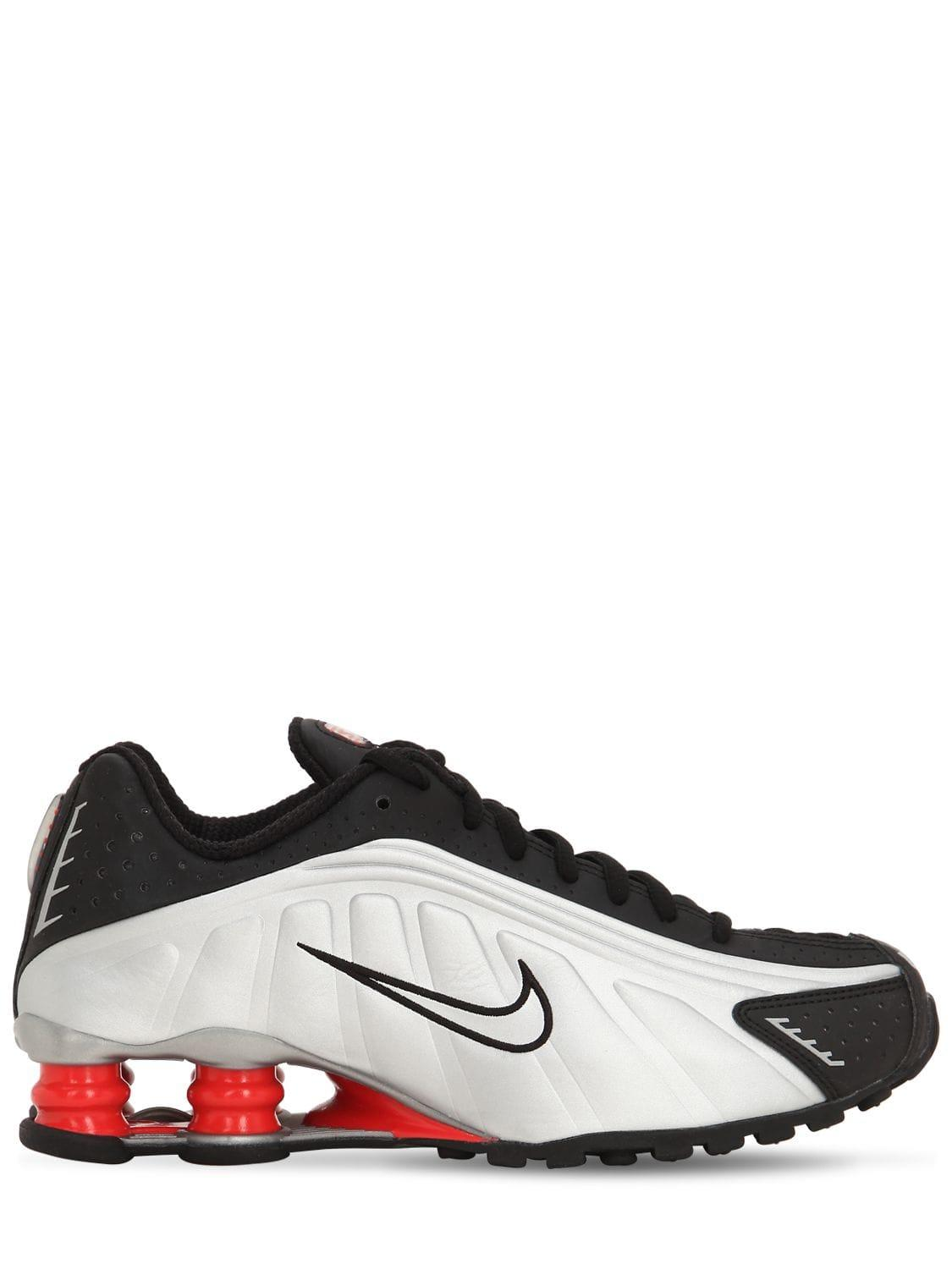 official photos 45dd4 a6f06 Nike. Women s Black Shox R4 Sneakers