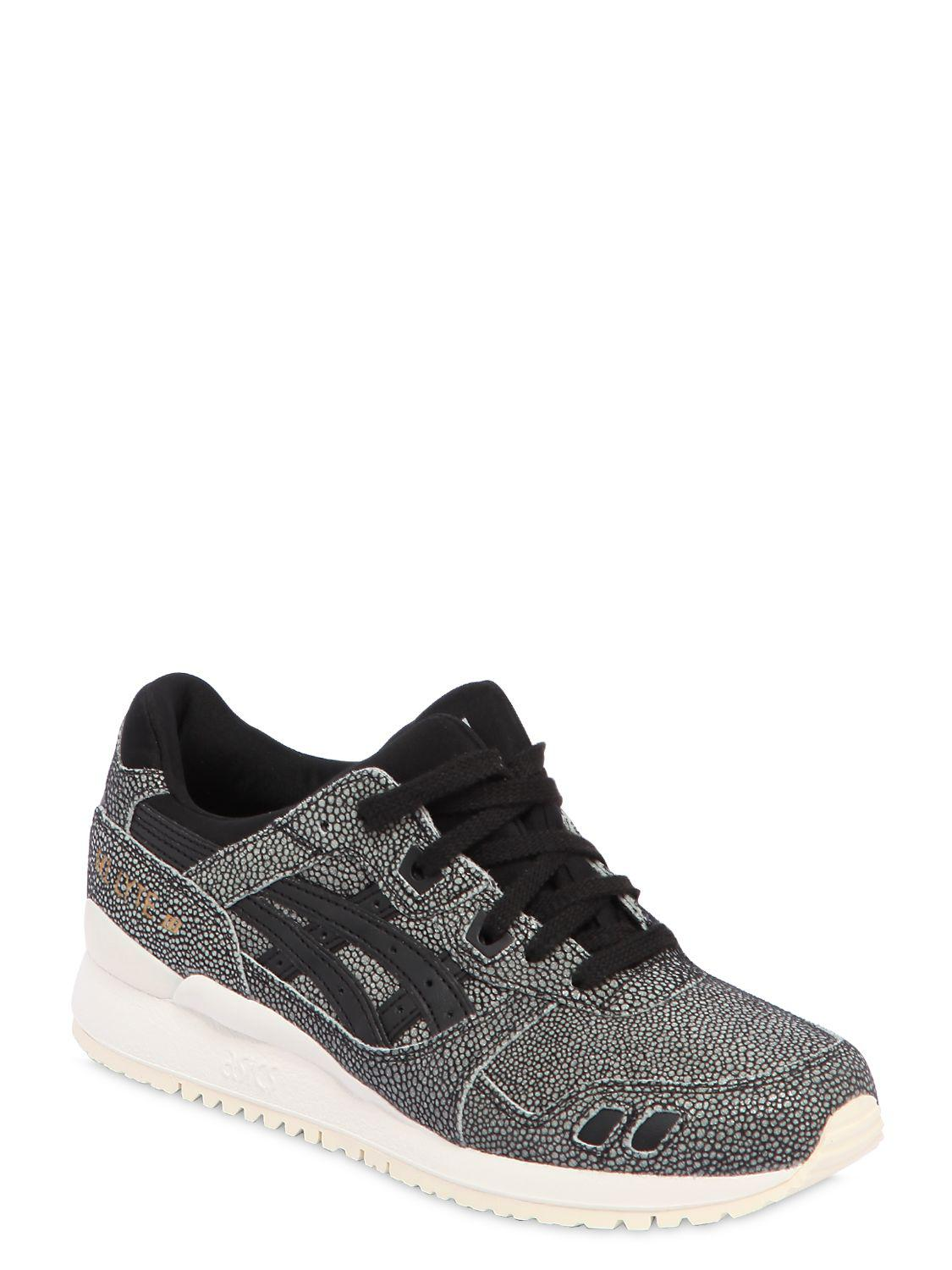 a9206835e590 Lyst - Asics Women s Gel-lyte Iii Leather Trainers in Black - Save 60%