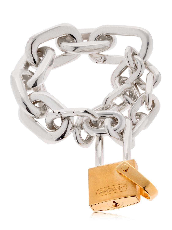AMBUSH Hues padlock bracelet - Metallic lqF6PSRy5