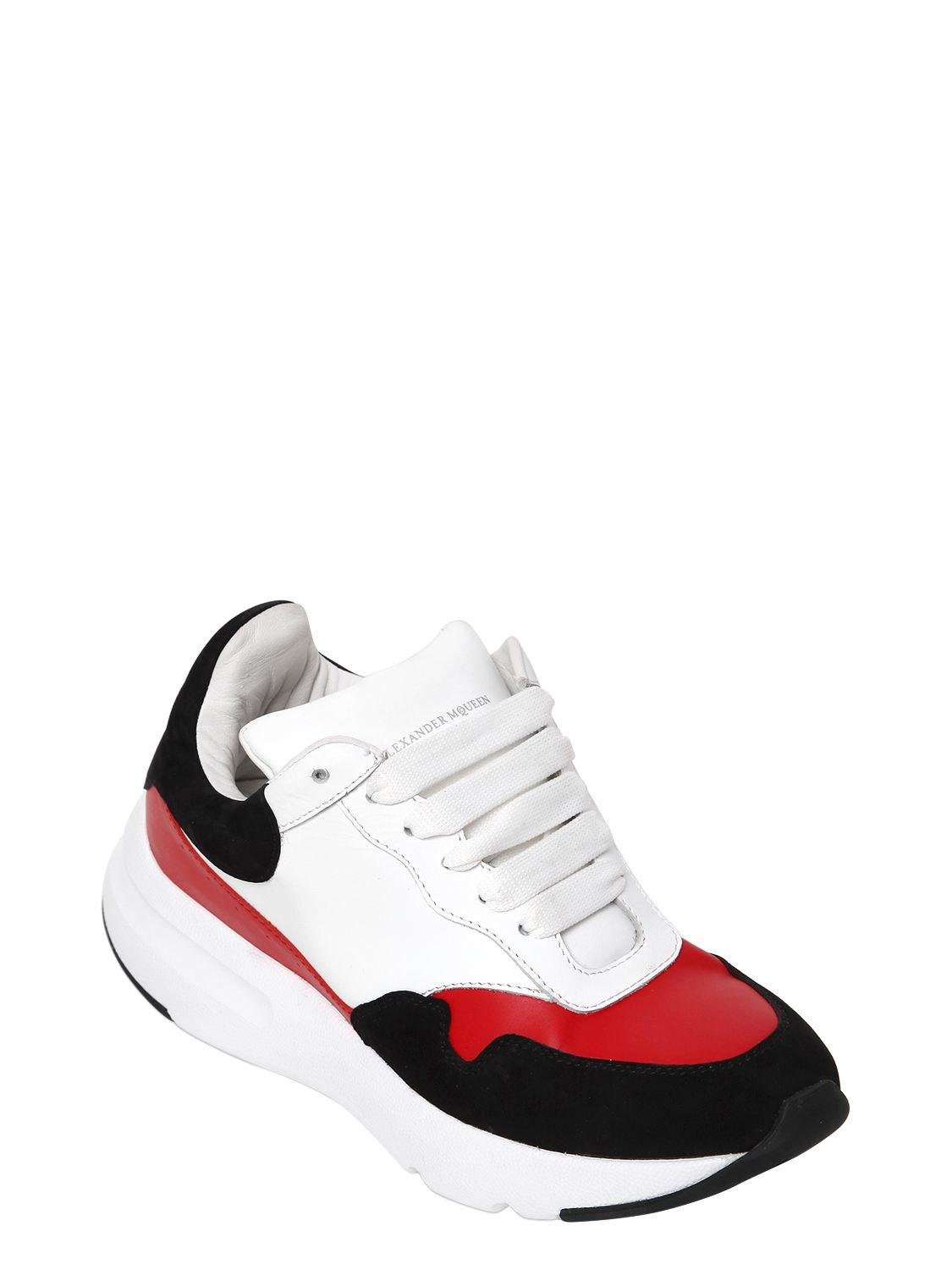 Alexander McQueen 50MM SUEDE & LEATHER SNEAKERS Visit New For Sale Perfect Sale Online Many Styles nwT42NS