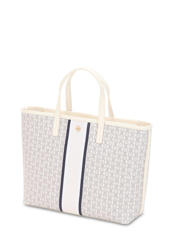 White Small Gemini Link Coated Canvas Tote Bag Lyst View Fullscreen