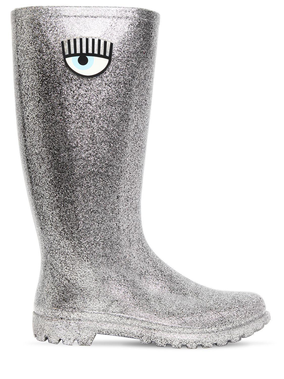 Chiara Ferragni Glitter rain boots Prix Flambant Neuf Unisexe Pas Cher OUe4Jdq