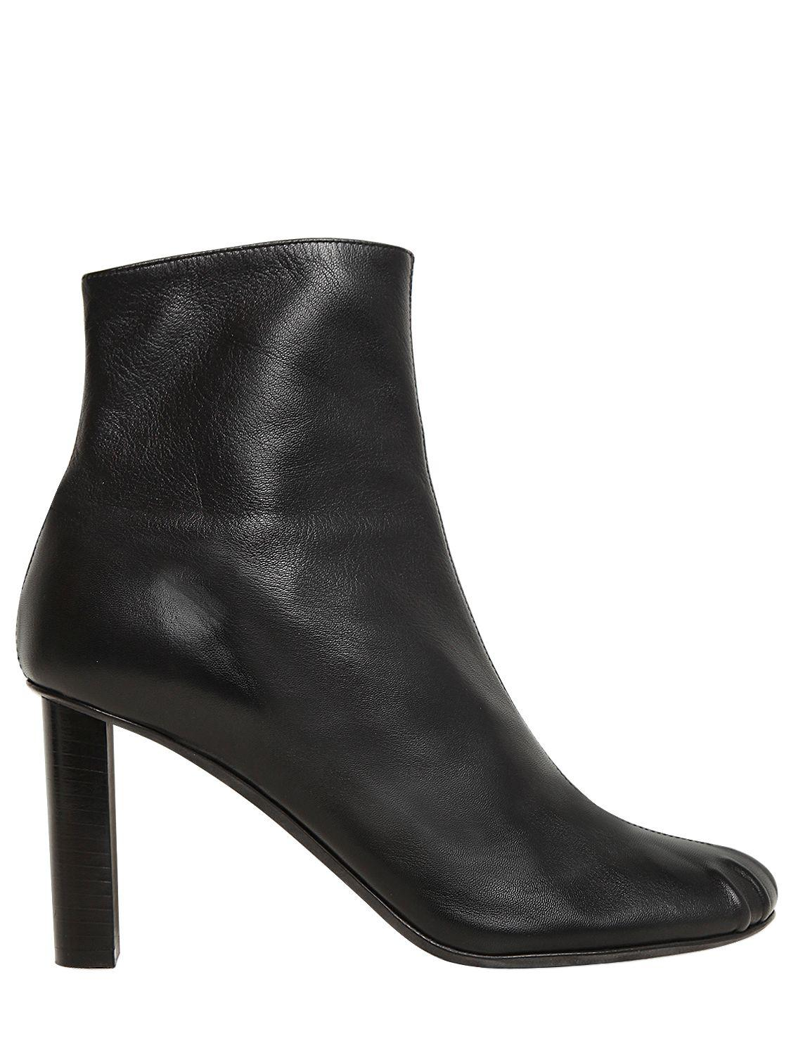 JOSEPH. Women's Black 90mm Leather Ankle Boots