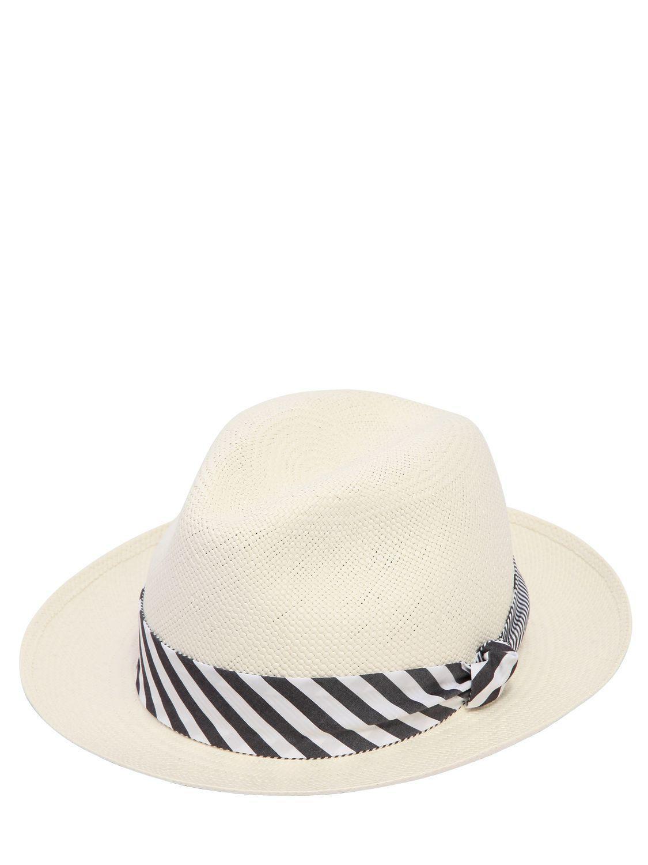 Lyst - Borsalino Quito Medium Brim Straw Panama Hat in White for Men 135e0ac1f7a9