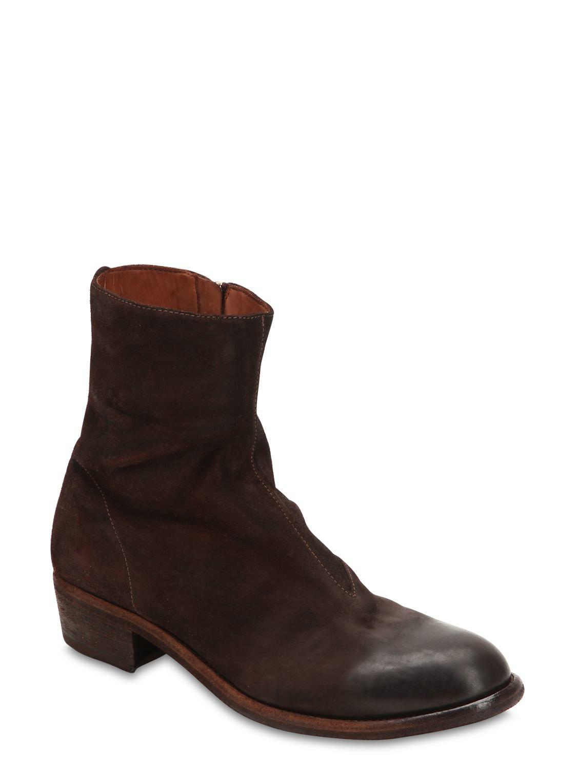 0edf73474ea8d Lyst - Officine Creative Ponti 001 Reversed Leather Boots in Brown for Men