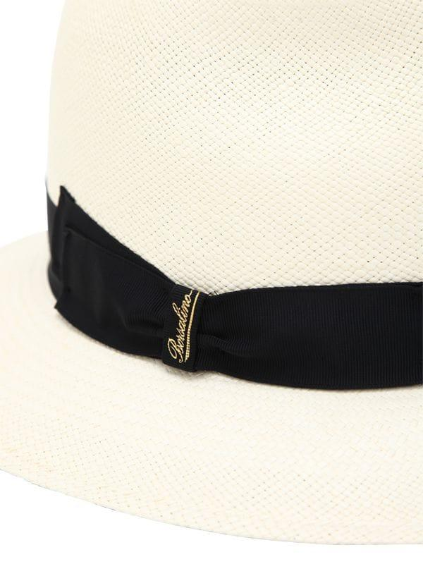 Borsalino - White Quito Medium Brim Straw Panama Hat - Lyst. View fullscreen 172da44d276d