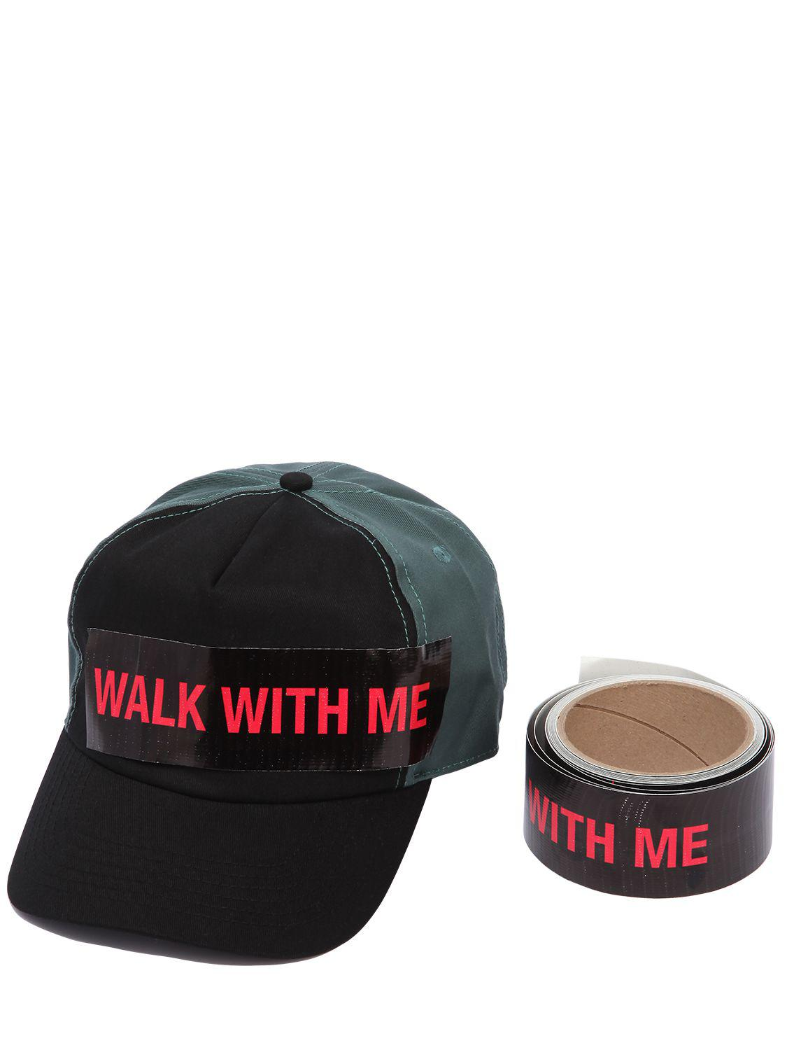 Lyst Raf Simons Cotton Baseball Hat W Walk With Me Tape