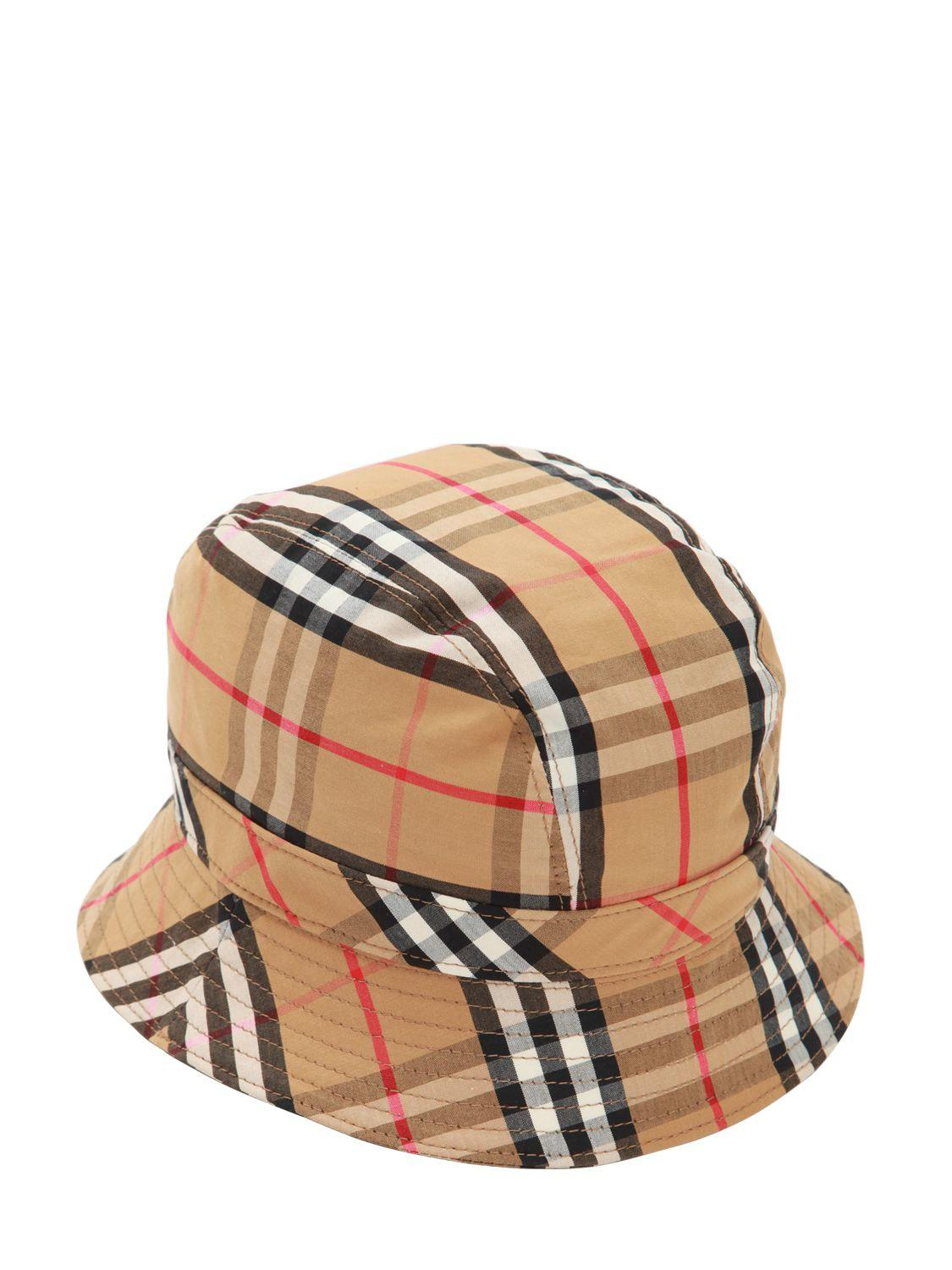 Burberry - Multicolor Vintage Check Cotton Bucket Hat for Men - Lyst. View  fullscreen 89ee486c29d