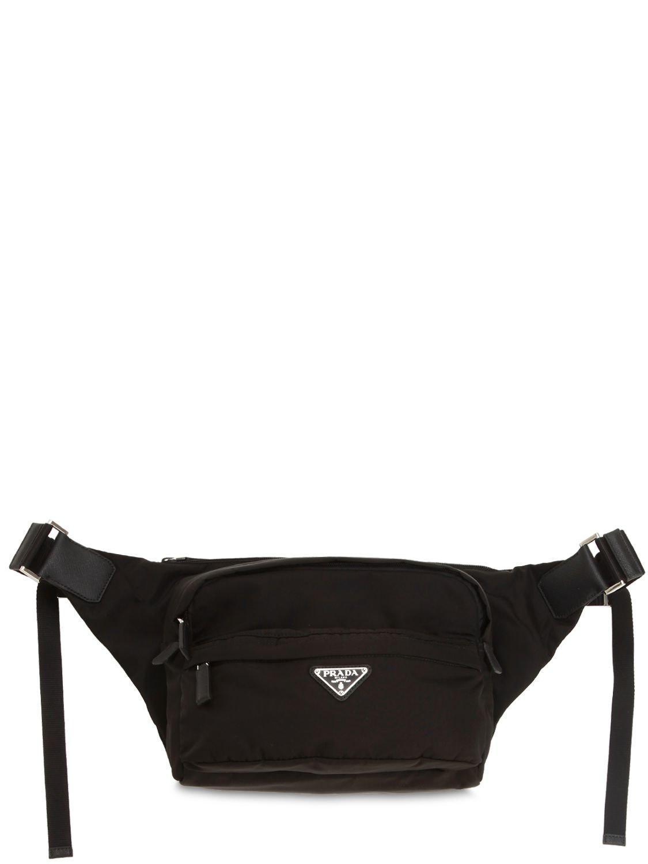 3ef60a619a1db1 Prada - Black Nylon Canvas Crossbody Bag for Men - Lyst. View fullscreen