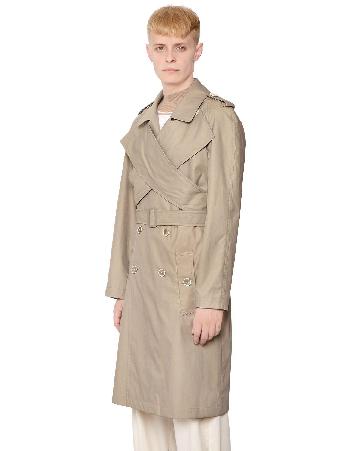 J.W.ANDERSON Wrap Front Trench Coat featuring polyvore