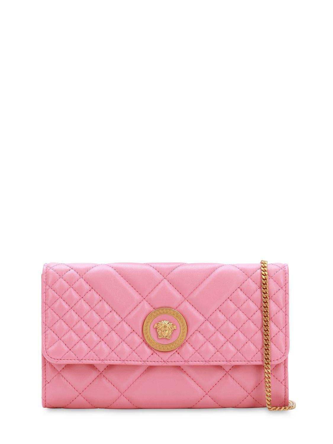 30cd38ca678 Lyst - Versace Icon Leather Shoulder Bag in Pink