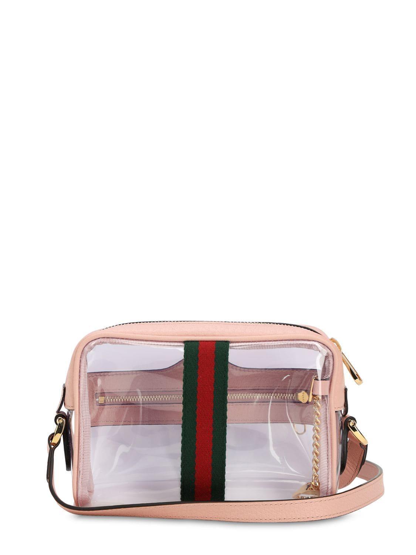 19a015741 Gucci - Pink Mini Ophidia Ghost Vinyl Shoulder Bag - Lyst. View fullscreen