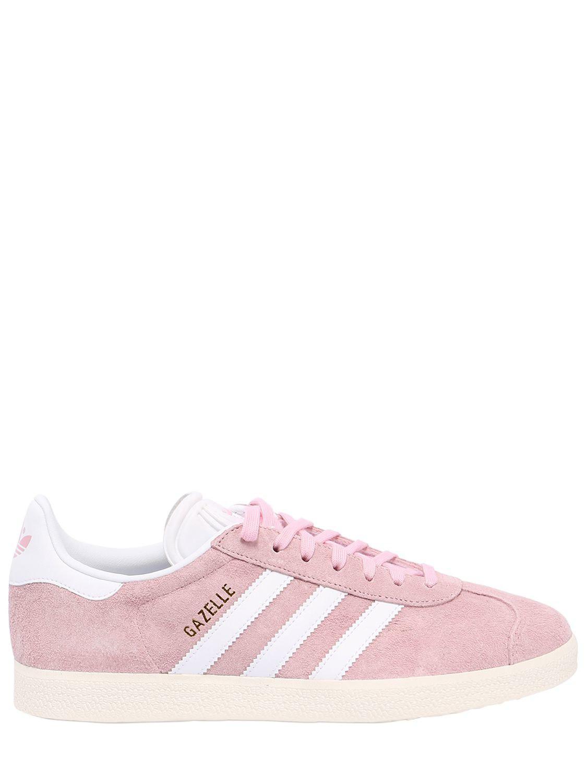 adidas Originals. Women's Pink Gazelle Nubuck Sneakers